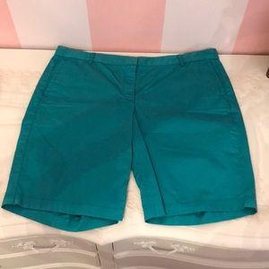 Turquoise Bermuda J Crew Shorts